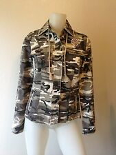 NEW RIP CURL LIGHTWEIGHT CAMOUFLAGE CAMO JACKET SNAPS POCKETS PATCHES XSMALL