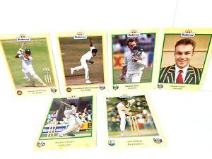 Buttercup Bread 1996 ACB Cricket Card 6 Bulk Set Promos Australia, India, Fiji