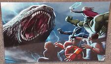 Godzilla vs The Avengers Glossy Print 11 x 17 In Hard Plastic Sleeve