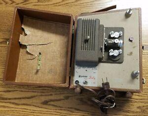 Vintage Keystone Sixty K 60 8MM Film Movie Projector Lamp not Lit - Parts/Repair