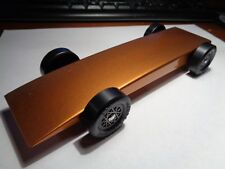 Pinewood Derby Smokin fast (Burnt Orange) car with 4 wheels touching