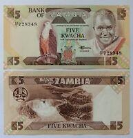 ZAMBIA 5 kwachas 1986. P.25d. Plancha UNC.