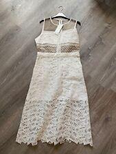 Veronica Beard New White Grace Sleeveless Lace A-Line Dress, Sz 10