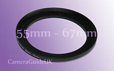 55mm to 67mm Male-Female Stepping Step Up Filter Ring Adapter 55mm-67mm UK