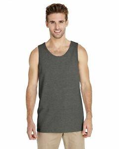 Gildan Men's Heavy 100% Cotton Tank Top Plain Tee Muscle Gym Sleeveless 5200