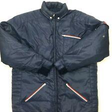 Vintage Obermeyer Mens Goose Down Ski Jacket Full Zip Hooded Blue Size Large