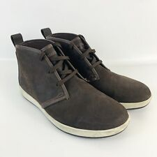 Timberland Mens Brown Leather Lace Up Round Toe Chukka Boots Size 10