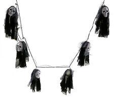 Halloween Lichterkette 6 Geister (1,80m) Totenkopf Lampinion Girlande Dekoration