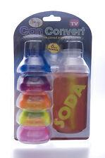 6 Pack Convert Drinks Can to Bottle Can Converter Fizz Saver Summer Fun.