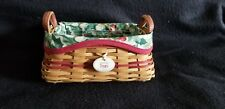 "2002 Longaberger ""Treats� Tree Trimming Basket – Red - Used"