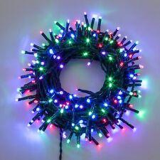 Luci di Natale EXTRALONG 13,1mt cavo verde - 180 miniled MULTICOLOR