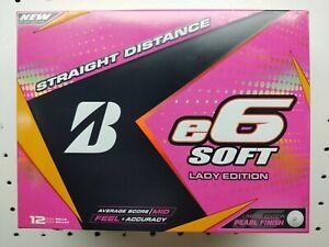 3 dozen new Bridgestone e6 Soft Lady Edition golf balls