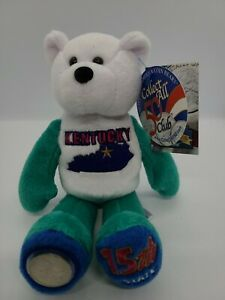 Limited Treasures 50 States of America Coin Bears Kentucky 15th State Plush Bear