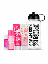VICTORIA'S SECRET Pink NEW! Fresh & Clean Water Bottle Gym Kit NWT