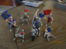 Lot of 9 Knights & Horses Fantasy Action Figures, Safari LTD