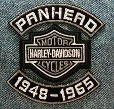"MOTORCYCLE PATCH SET 4"" PANHEAD ROCKERS DATES HARLEY DAVIDSON BAR & SHIELD"