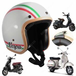 CASCO JET OMOLOGATO TRIBUTE BIANCO LUCIDO ITALY VESPA SPECIAL GL GS RALLY