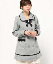 NWT🍀 axes femme🍀 Rose & Bow Gray Coat Japan Size M Romantic Sweet Lolita Hime