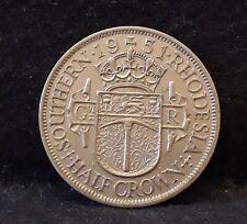 1951 Southern Rhodesia 1/2 crown, late George VI, good grade, KM-24