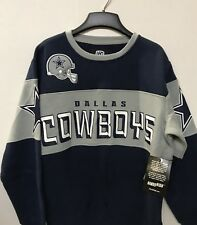 Dallas Cowboys Men's NFL Navy/Gray Wildcat Crewneck Sweatshirt, 2XL