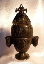 Vase Canope Style Egyptien XIXe Urne Funéraire Hiéroglyphes Statue Dieu Horus