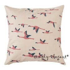 "2 NEW IKEA Majbritt Cushion Covers Flamingos Deco Pillow Cover 20x20"" w/ Zipper"