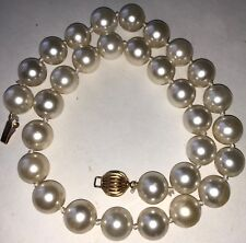 """Cultured Pearl 12mm South Seas 17"""" Strand w 14k Clasp well matched high lustre"""