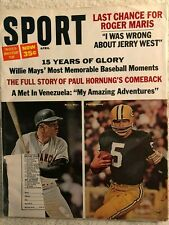 1966 SPORT Magazine - NFL Pro Football Paul Hornung - MLB Baseball Willie Mays