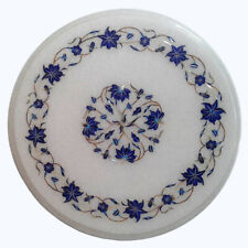"""12""""x12"""" Round Home Decor Beautiful Design Marble Inlay Table Top"""