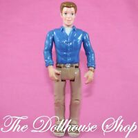 Fisher Price Loving Family Sweet Sounds Dollhouse Brunette Dad Father Doll Blue