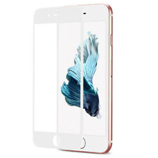For iPhone 7 Plus White 3D Full Cover Soft Fiber+Temper Glass Screen  Protector