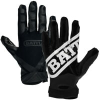 Battle Sports Science Receivers Ultra-Stick Football Gloves - Black/Black