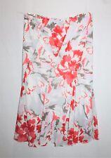 Vivid Designer White Floral Chiffon Day Skirt Size 16 BNWT #TB40