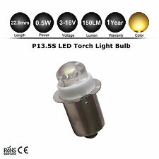 1X P13.5S 3-18V LED upgrade bulb - Latest version - Maglite D/C cell flashlights