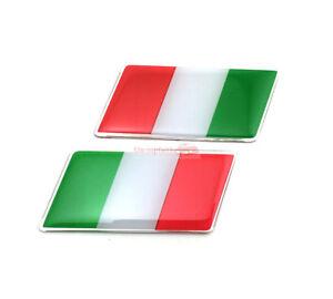 2x Italy IT Flag Trunk Rear Emblem Badge Sticker Decal For Fiat Ferra Alfa Romeo