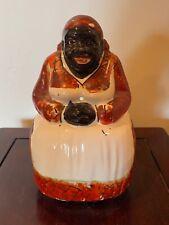 Antique Black Americana Pottery/Ceramic Statue