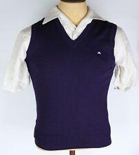 Men's Blue J. Lindeberg 100% Merino Wool Vest Size Small EUC Made in Romania
