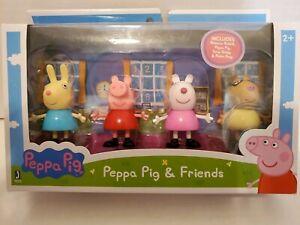 Peppa Pig & Friends 4 Pack Mini Figures Rebecca, Peppa, Suzy & Pedro #92611