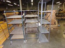Lot Of 3 Assorted Industrial Metal Storage Shelves