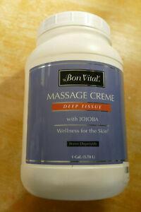 Bon Vital All Purpose Massage Creme with Jojoba 1 Gallon New Sealed