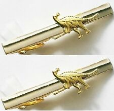 clasps pins silver gold tone 2 tie bar clips Lot dinosaur