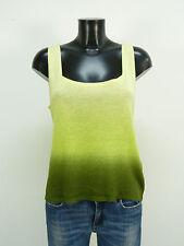 Dana Buchman Pullover Taglia L/Verde & Trend-con Lino (m 7391)