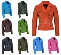 Ladies BRANDO BLACK 6385 Cool Punk Biker Style SOFT Leather CLASSIC Waistcoat