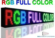 "Led Signs 7"" x 51"" Full Color 10MM PITCH PROGRAMMABLE NEON DIGITAL MESSAGE BOARD"