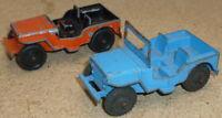 Lone Star Civilian Jeeps in Orange & Blue...1960,s spares - repairs