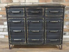 Retro Vintage Industrial sideboard Black multi Retro style Storage Chest console