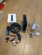 Nintendo Wii Black Bundle. Mario Kart, Wii Fit & balance board, DJ Hero & Mixer