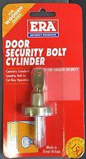ERA DOOR SECURITY BOLT CYLINDER. BRASS FINISH
