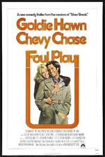FOUL PLAY -1978- orig 27x41 movie poster - Reg Style - CHEVY CHASE, GOLDIE HAWN