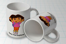 Personalised Dora The Explorer   White Mug Cup Any Name